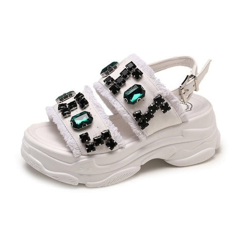 Image of Summer new Korean fashion casual shoes wild flat sandals open toe beach shoes