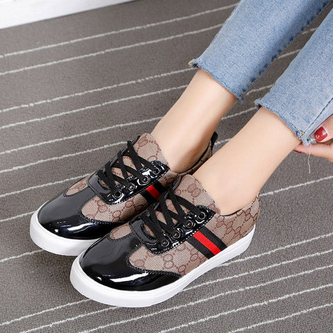 Image of female canvas white sneakers womens trainers woman shoes platform basket femme ladies designer sneakers vulcanized shoes