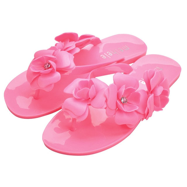 77cfe6c64302 2018 New Summer Hot Women Sandals With Beautiful Camellia Flower ...