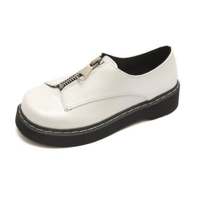 21c7153a190 ... Image of HIZCINTH Japanese Style Women Shoes Before Zipper Round Head  Flat Platform Shoes Woman 2018