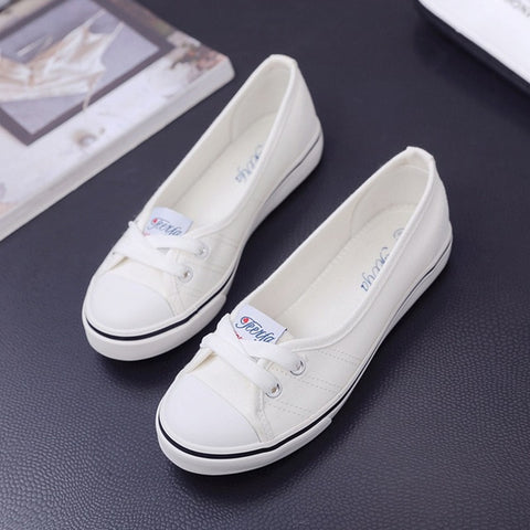 Image of Women Loafers Shoes Ballet Breathable Women Flats Slip On Fashion Flats Shoes Women Casual Shoes