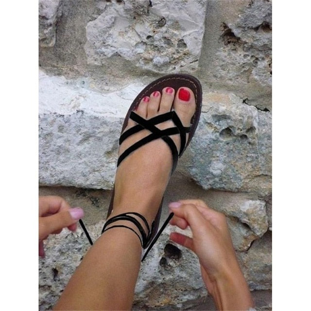 ac58316f7 Click to expand · IF FEEL Summer Retro Ladies Beach Sandals Roman sandals  Women Sandals Fashion Gladiator Sandals For Women