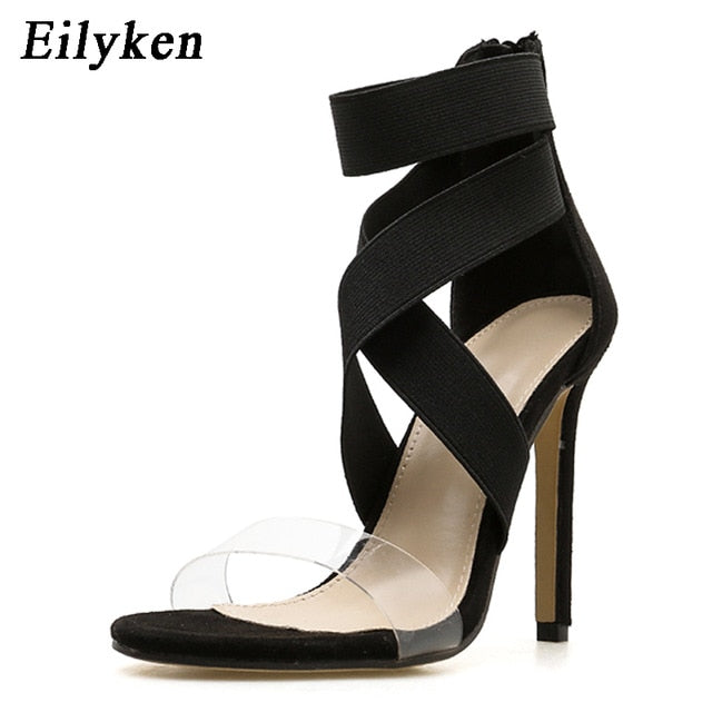 c726802a5cc ... Ankle-Wrap High Heels Shoes Fashion Summer Ladies Party. Hover to zoom