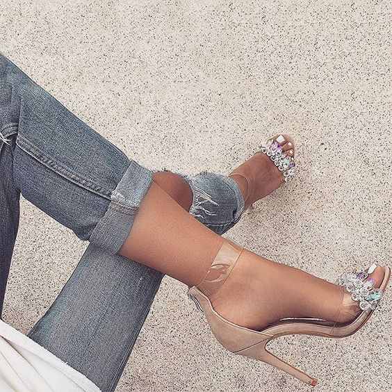 Summer female sandals diamond thin heels buckles Roman peep-toe shoes color matching pair