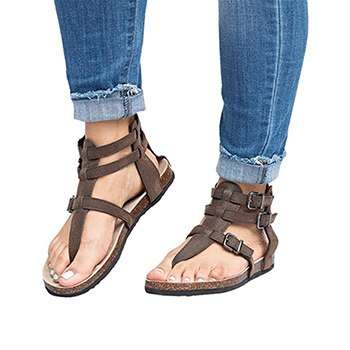 Image of Big Size Gladiator Women Sandals 2018 Fashion Bohemia Beach Flat Heels Summer Woman Shoes Ladies Roman Sandals zapatos mujer