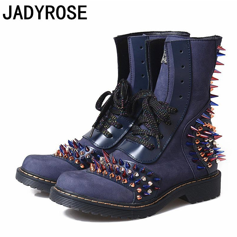 Alert 2019 Fashion Women Boots Casual Leather Low High Heels Winter Shoes Woman Pointed Toe Rubber Ankle Boots Black Zapatos Mujer Excellent In Quality
