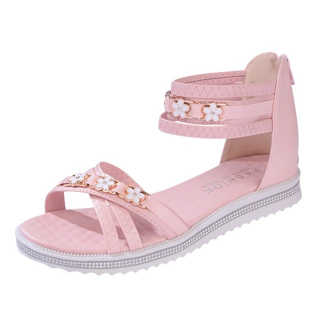 054d9646d7926 ... Flat Open Toes Crystal Sandals 2018 Summer Platform Shoes Woman Cover  Heel. Hover to zoom