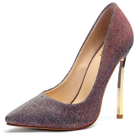 273c195fd3f8 Hover to zoom · Yifsion New Women Pumps Stiletto Metal High Heel Pumps Sexy  Pointed Toe Gorgeous Red ...
