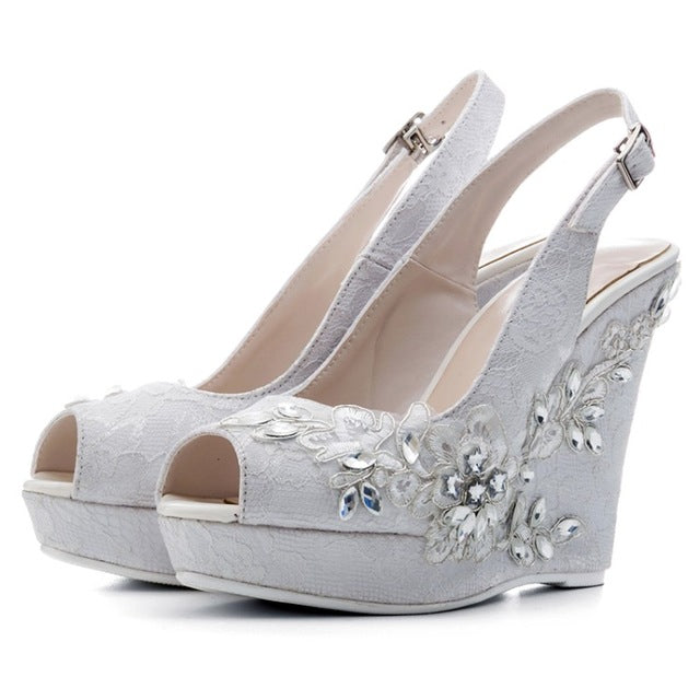 Hover to zoom. PrevNext. Image of BaoYaFang New Peep Toe Women Wedding shoes  Bride ... 599aa792db01