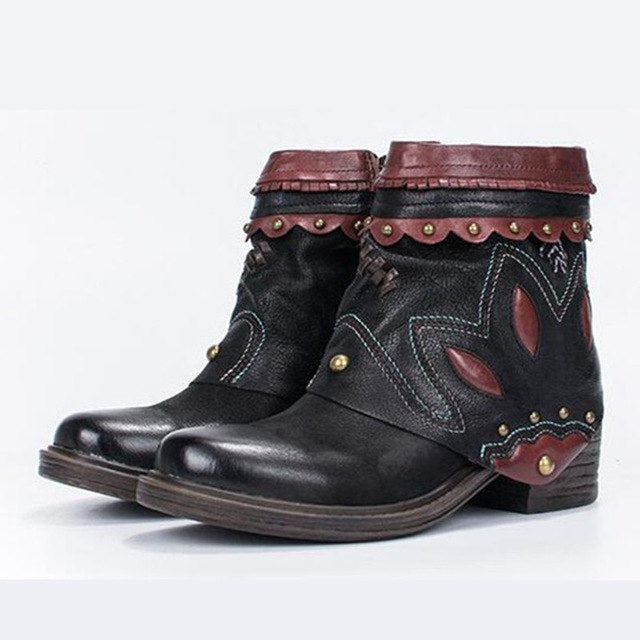421898c1070 ... Ankle Boots Rivets Martin Boot Platform Rubber Shoes Female Ethnic Botas  Mujer. Hover to zoom