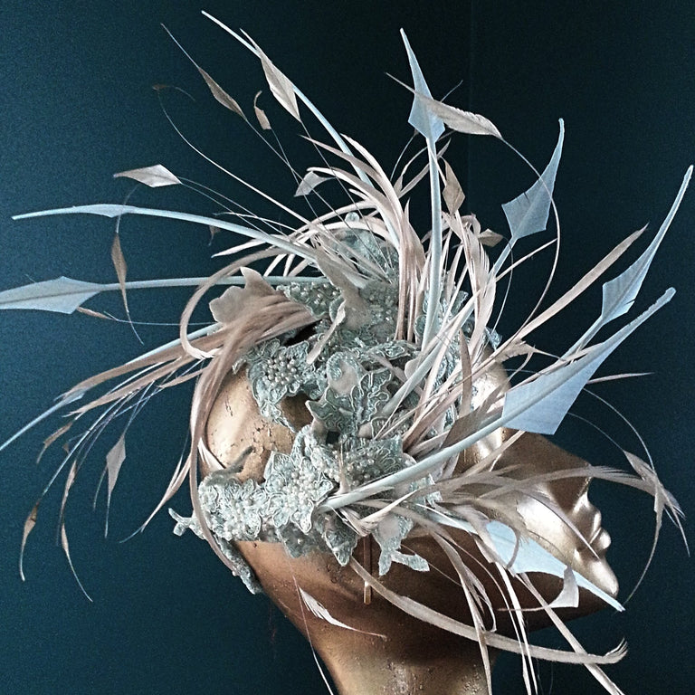 Lina Stein Millinery Workshop | bridal millinery feather crown for advanced