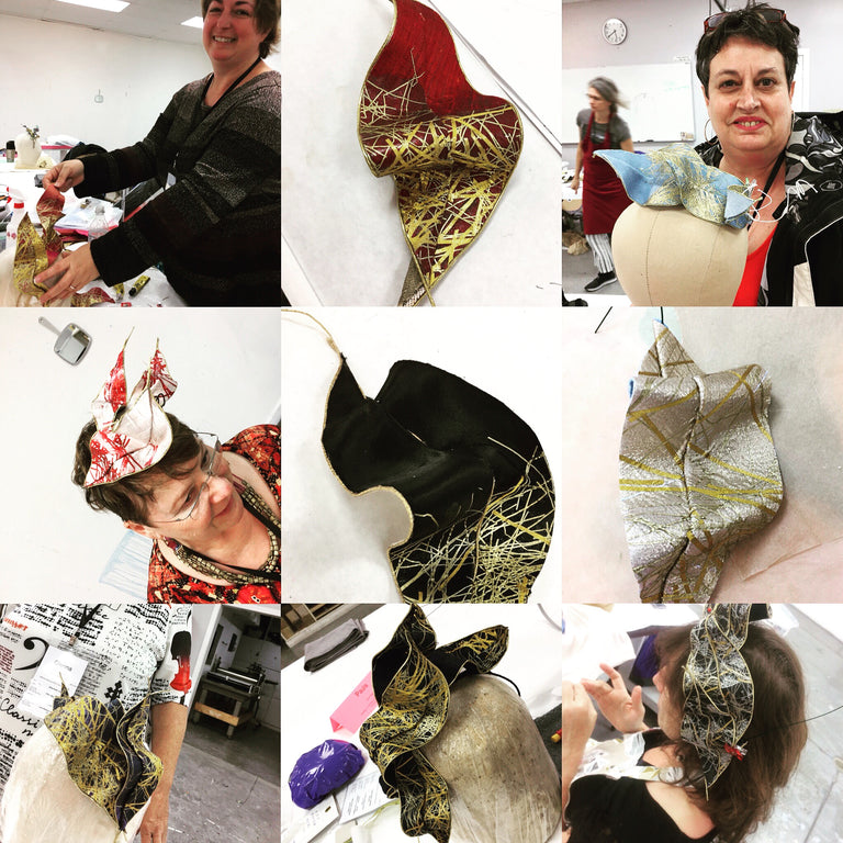 Lina Stein Online & Live millinery workshops  Touch of midas