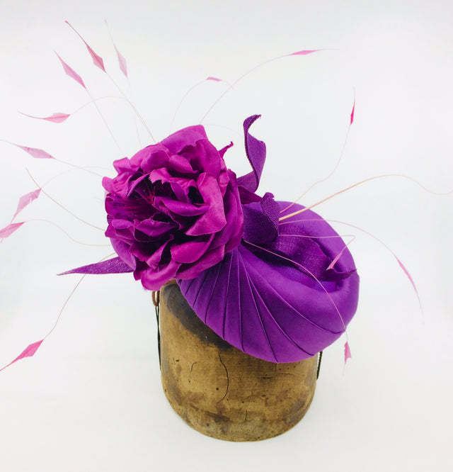 Lina Stein Millinery workshop couture fabric and flower