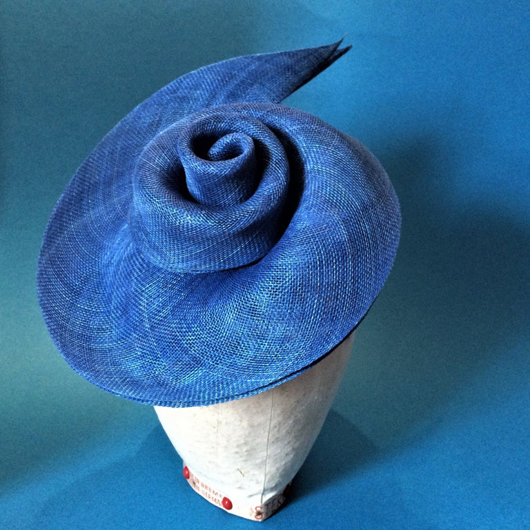 Lina Stein millinery workshops online and live Swirled Sinamay