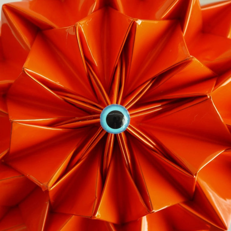 lina stein millinery 2020 collection orange origami fascinator