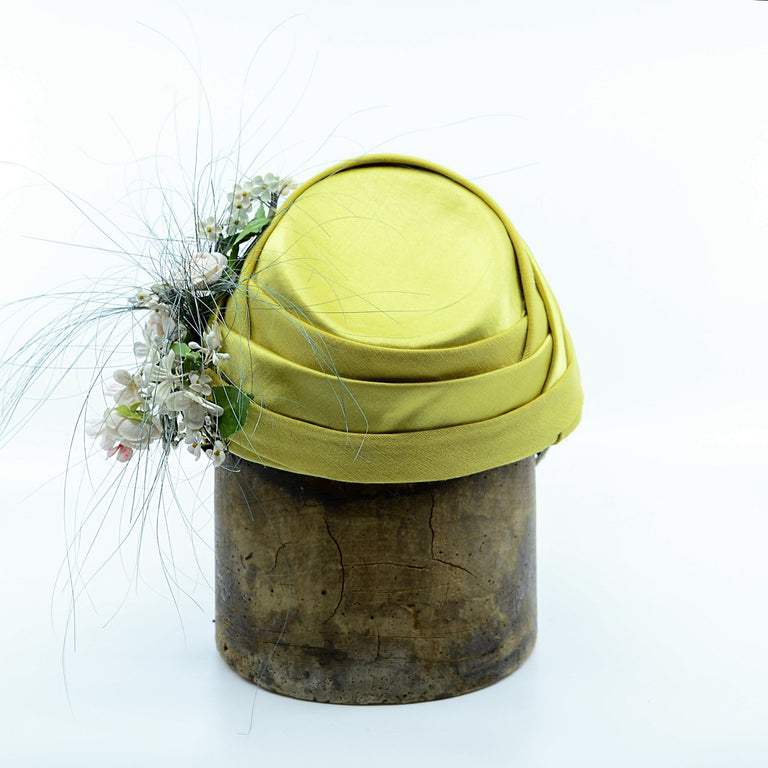 Lina Stein limited edition silk ladies hat. Rear-view. Photographer Sadhbh Kenny