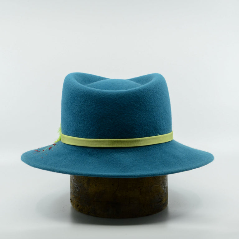 Lina Stein Fedora hat. Mutiny. Rear-view. Photographer Sadhbh Kenny