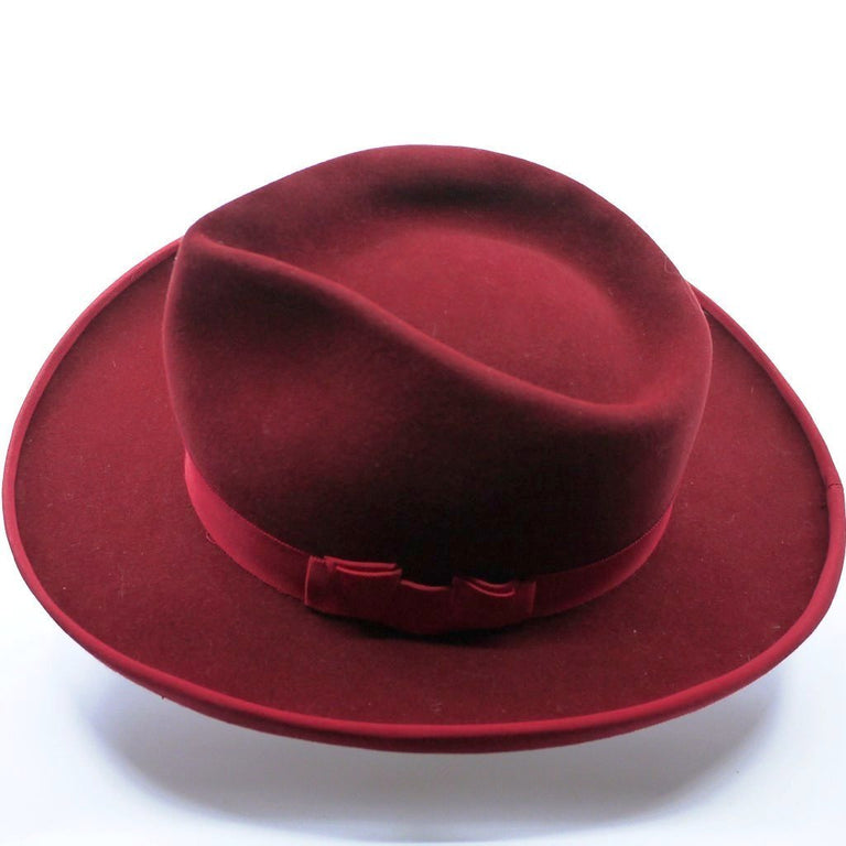 Lina Stein | Orson Fedora hat, hand made in Ireland | top-side view