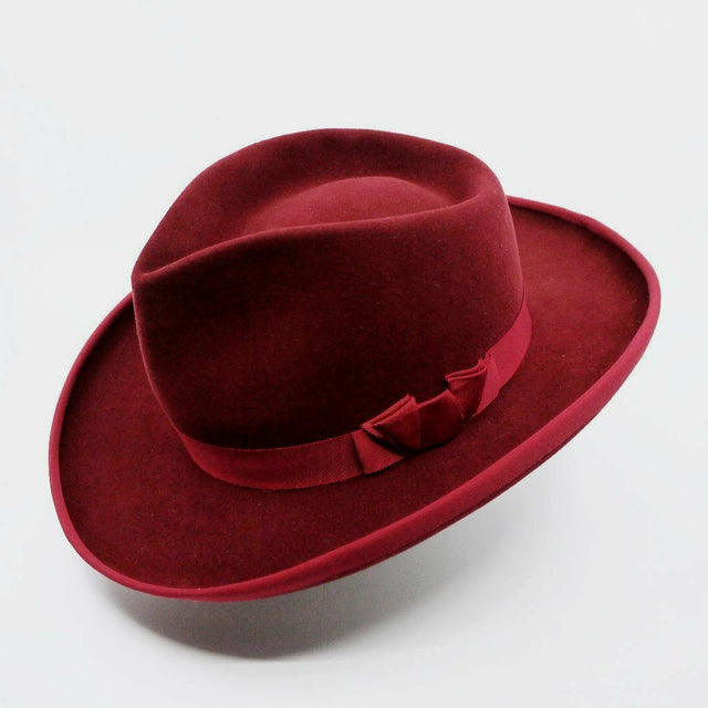 Lina Stein Orson Fedora hat, hand made in Ireland by Lina Stein