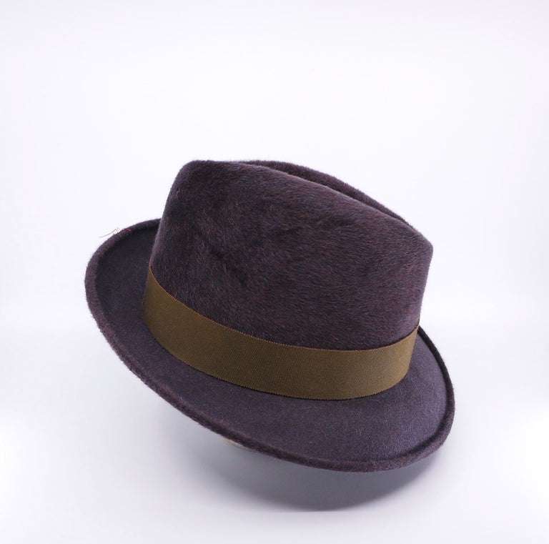 Lina Stein Homburg hat ,right side view ,brim down