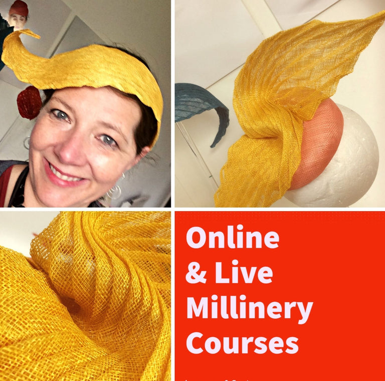 Online & Live | Sculpted Origami using Sinamay-for all levels