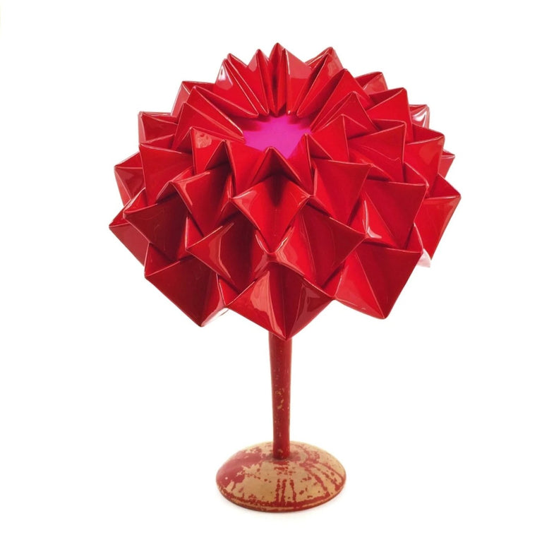 Lina Stein 2020 collection Coco Red origami hat