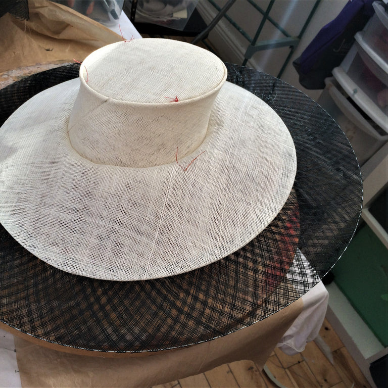 TOP HAT CROWNS AND BASKET-WEAVE BRIMS - Intermediate / advanced level