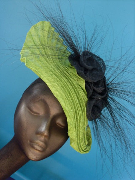 Lina Stein Millinery workshop. Sinamay Origami Fascinator
