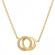 Load image into Gallery viewer, Pave Interlocked Hoops Necklace