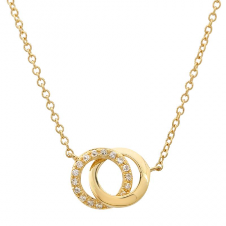 Pave Interlocked Hoops Necklace