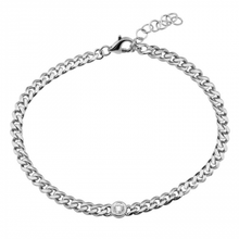 Load image into Gallery viewer, Diamond Bezel Cuban Link Bracelet