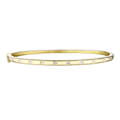 14k Classic Diamond Bangle
