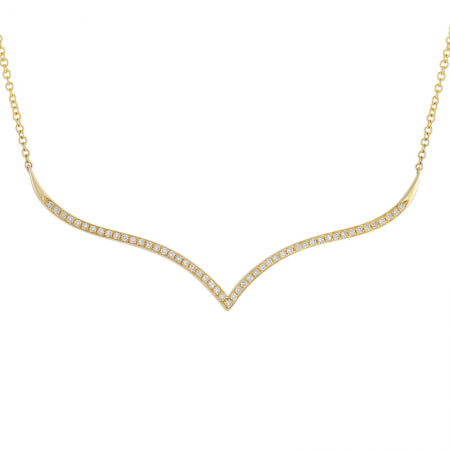 Diamond V Statement Necklace