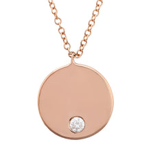Load image into Gallery viewer, 14k Classic Round Nameplate Necklace