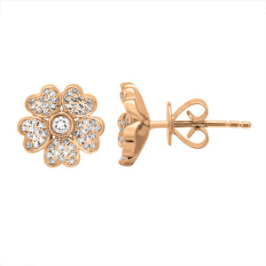 Diamond Flower Daisy Studs
