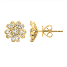 Load image into Gallery viewer, Diamond Flower Daisy Studs