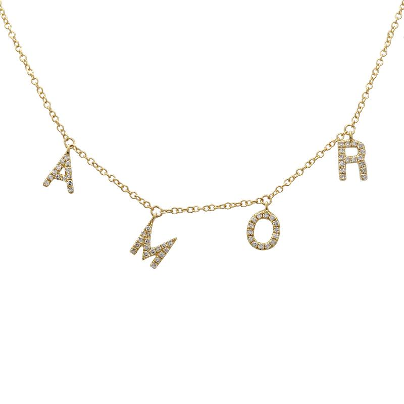 Diamond AMOR Necklace