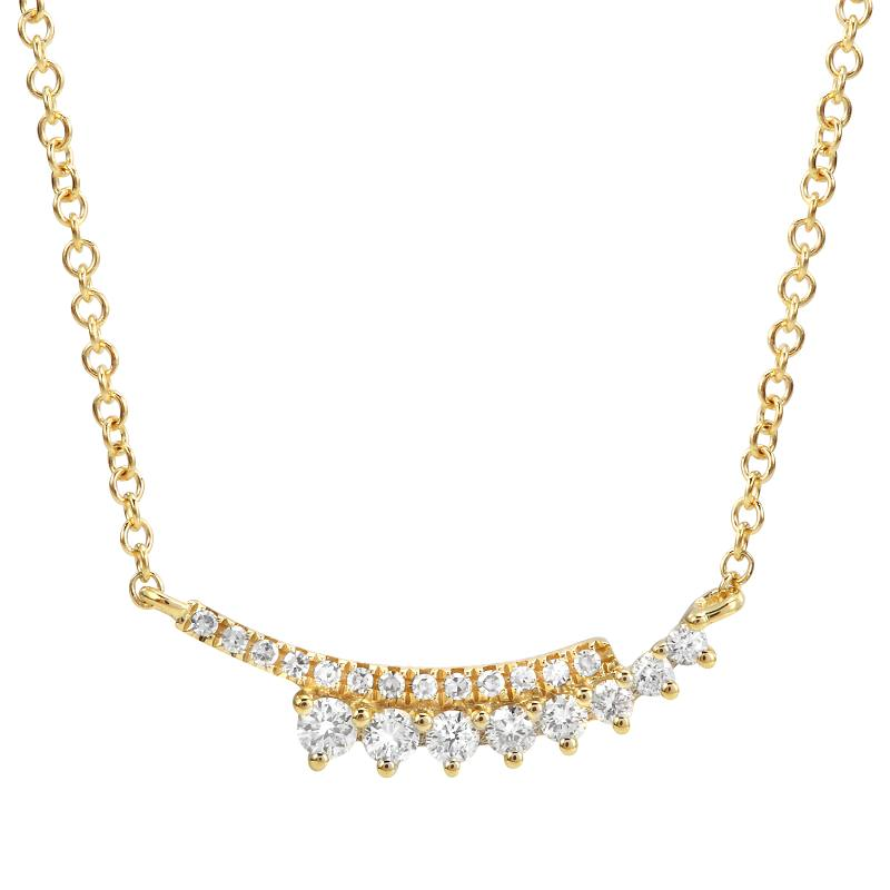 Diamond 2 Rows Layering Necklace