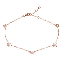 Load image into Gallery viewer, Multi Diamond Star Anklet