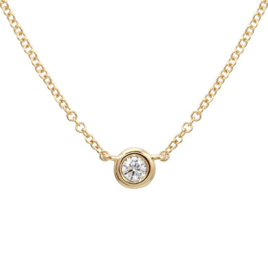 0.07ct Diamond Bezel Necklace