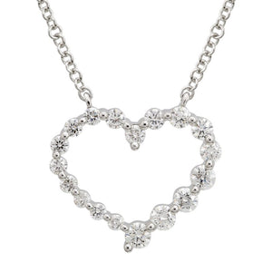 Round Brilliant Heart Necklace