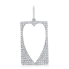 Load image into Gallery viewer, Pave Cutout Heart DogTag Charm
