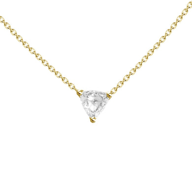 0.31ct Diamond Trillion Necklace