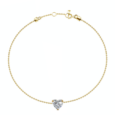 0.21ct Heart Diamond Dainty Bracelet