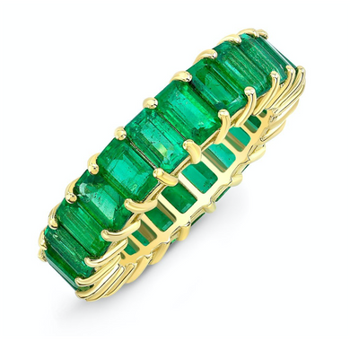 14k Gold Emerald Eternity Ring