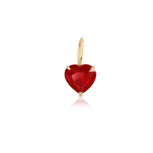 Load image into Gallery viewer, Custom Solitaire Gemstone Heart Charm