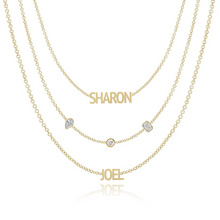Load image into Gallery viewer, Mixed Shapes Blended Multiple Names Layered Necklace