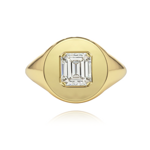 Fancy Shape Statement Signet Ring