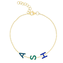 Load image into Gallery viewer, Enamel Multiple Initials Bracelet