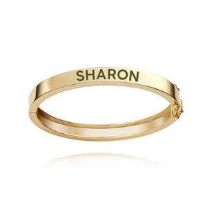 Enamel Personalized Bangle